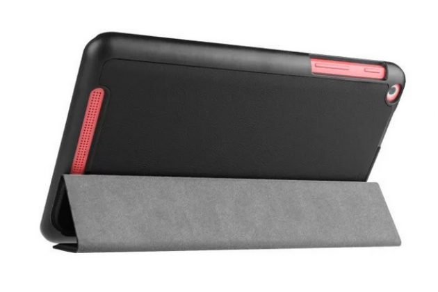 """Фирменный умный чехол самый тонкий в мире для планшета Acer One 8 B1-820/821/B1-830 """"Il Sottile"""" черный кожаный"""