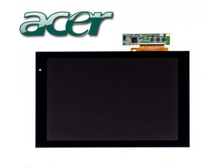 Фирменный LCD-ЖК-сенсорный дисплей-экран-стекло с тачскрином на планшет Acer Iconia Tab A500/A501 черный и инс..