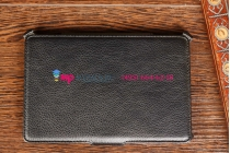 """Фирменный чехол для Acer Iconia Tab B1-711 черный кожаный """"Deluxe"""""""
