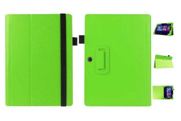 Чехол для Acer Aspire Switch 10 E SW3-013 / 12TJ/1812 10.1 зеленый кожаный