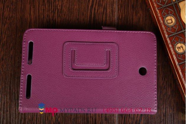 Фирменный чехол-обложка для Acer Iconia Tab A1-713HD фиолетовый кожаный