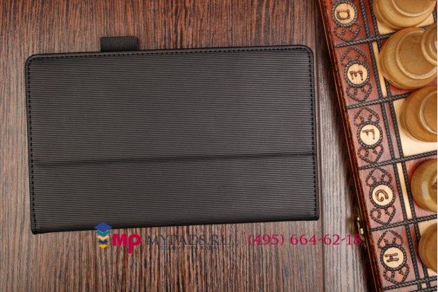 """Фирменный оригинальный чехол-книжка для Acer Tab 7 A1-713/A1-713HD с мягкой противоударной подкладкой черный """"Prestige"""" Италия"""