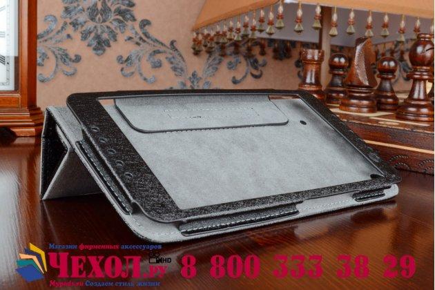Фирменный оригинальный чехол обложка с подставкой для Acer Iconia Talk S A1-724 черный кожаный