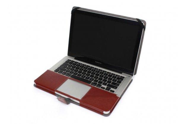 """Фирменный премиальный чехол-обложка-футляр-сумка с подставкой и вырезом под тачпад для  Apple MacBook Air 11 Early 2014 ( MD711 / MD712) 11.6"""" из импортной кожи коричневый"""