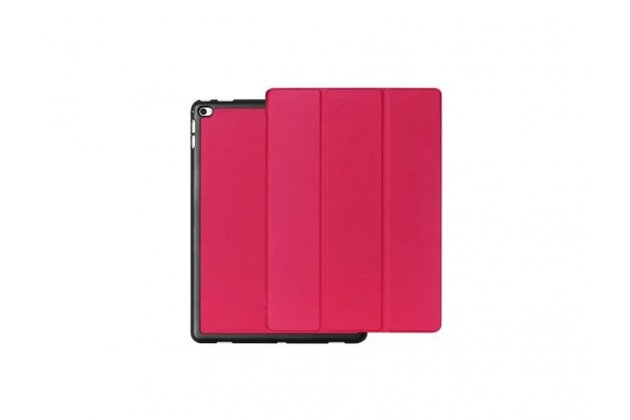 """Фирменный умный чехол самый тонкий в мире для планшета iPad Pro 12.9"""" """"Il Sottile"""" розовый кожаный"""