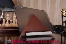 """Элитный умный чехол с подставкой """"Оригами"""" для iPad Pro 9.7"""" коричневый натуральная кожа """"Luxury"""" Италия"""
