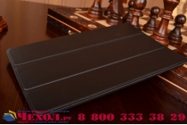 """Фирменный умный чехол-книжка самый тонкий в мире для iPad mini 4 """"Il Sottile"""" черный кожаный"""