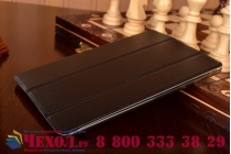Фирменный ультра-тонкий чехол-футляр-книжка для iPad Mini 4 черный пластиковый