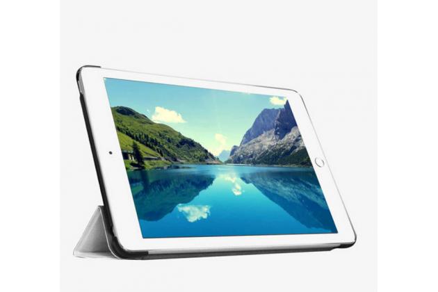 """Фирменный умный чехол-книжка самый тонкий в мире для iPad mini 4 """"Il Sottile"""" белый кожаный"""