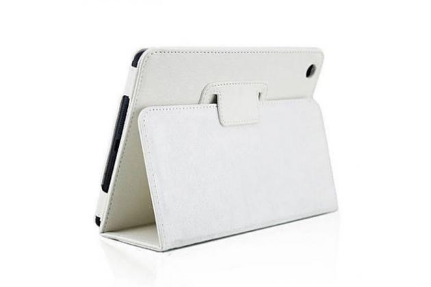 Чехол закрытого типа из мягкой кожи для iPad Mini 4 белый