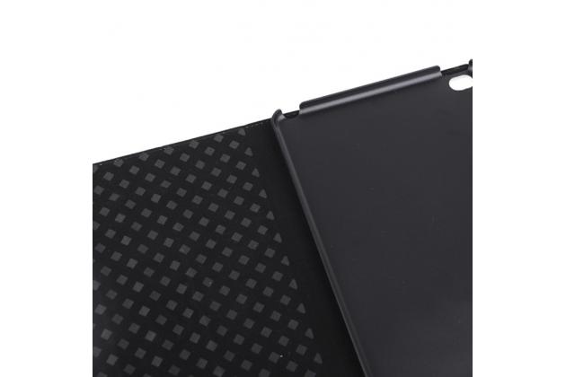Фирменный чехол-обложка для iPad mini 4 в клетку коричневый кожаный