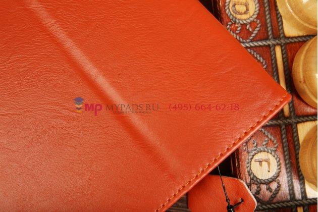 """Чехол-обложка для Apple iPad 5 Air оранжевый """"Prestige"""" натуральная кожа Италия"""