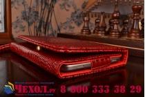 Фирменный роскошный эксклюзивный чехол-клатч/портмоне/сумочка/кошелек из лаковой кожи крокодила для планшетов Acer Iconia Tab 8 A1-840/A1-841 FHD/A1-840FHD. Только в нашем магазине. Количество ограничено.