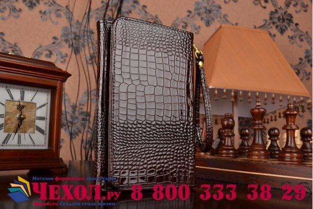 Фирменный роскошный эксклюзивный чехол-клатч/портмоне/сумочка/кошелек из лаковой кожи крокодила для планшетов Acer Predator 8. Только в нашем магазине. Количество ограничено.