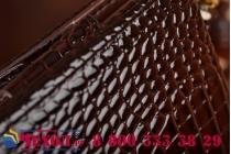 Фирменный роскошный эксклюзивный чехол-клатч/портмоне/сумочка/кошелек из лаковой кожи крокодила для планшетов Acer Iconia Tab A200/A201. Только в нашем магазине. Количество ограничено.