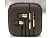 Наушники-вкладыши с микрофоном и переключателем песен Xiaomi Piston 2 золотые для всех моделей телефонов.Аналог