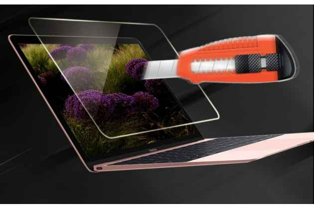 Фирменное защитное закалённое противоударное стекло для ноутбука Apple MacBook Air 11 Early 2015 (MJVM2/ MJVP2) 11.6 / Apple MacBook Air 11 Early 2014 ( MD711 / MD712) 11.6 из качественного японского материала премиум-класса с олеофобным покрытием
