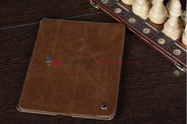 Чехол-обложка для iPad 2/3/4 из высококачественной натуральной итальяснкой кожи класса премиум коричневый