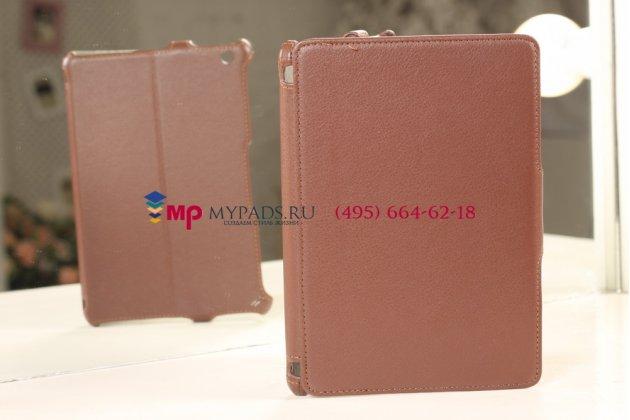 Чехол для iPad Mini коричневый кожаный янтарный