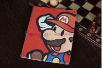 """Фирменный чехол-обложка для iPad 2/3/4 тематика """"Super Mario"""" кожаный"""